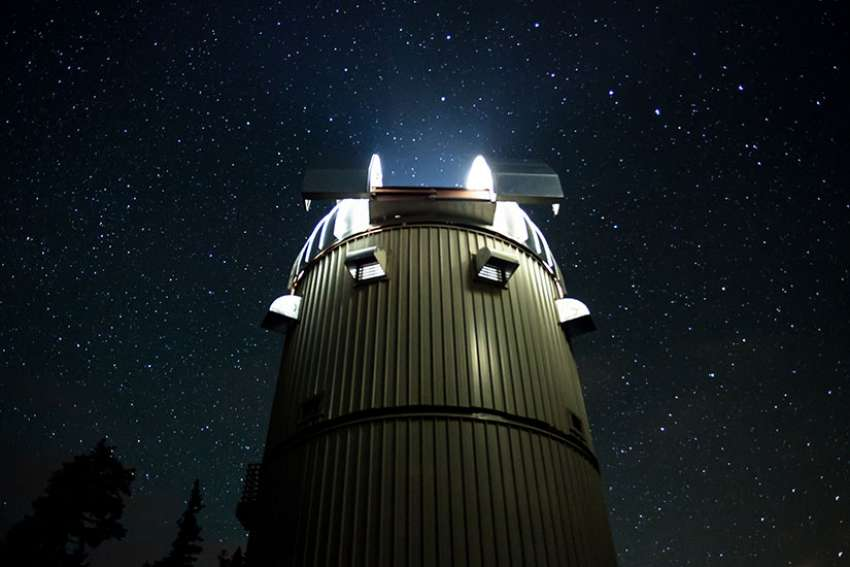 A long exposure at the Vatican Advanced Technology Telescope in southeastern Arizona in 2014.