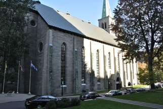St. Patrick's Basilica's green space and parking lot are being sold to a French-language business school. The funds will be used for an endowment fund for the downtown Montreal church.