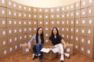 Sisters Briana and Athena Zhong are looking to supply essential items and uplift the spirits of vulnerable populations during the COVID-19 pandemic through their organization Gifts that Smile.