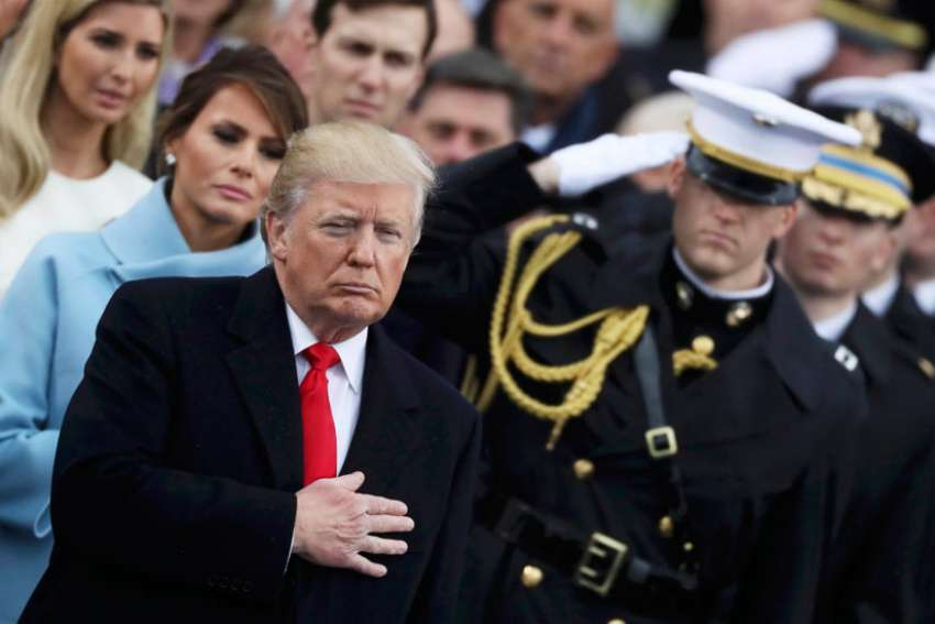 President Donald Trump on inauguration day Jan. 20. Trump has restored the Mexico City Policy which has traditionally indicated an incoming president's stance on abortion.