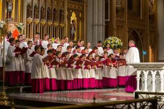 The Sistine Chapel choir made its first-ever visit to Canada and St. Michael's Cathedral on Sept. 27.