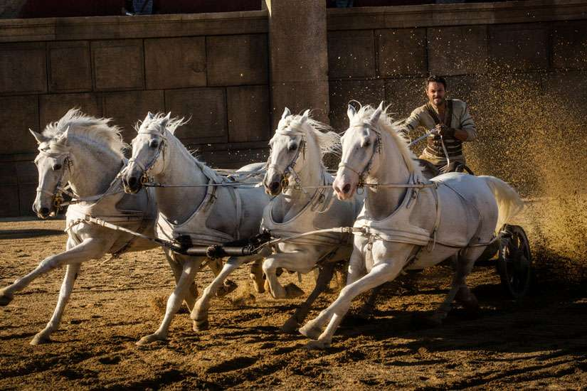"Jack Huston stars in a scene from the movie "" Ben-Hur."" The film is one of the winners of the 2016 Catholics in Media Awards, presented annually by Catholics in Media Associates"