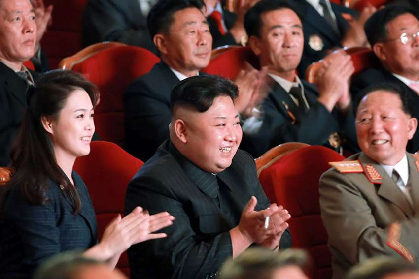 North Korean leader Kim Jong Un attends an event in Pyongyang Sept. 3, 2017, to celebrate the latest nuclear test.