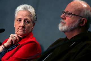 Irish abuse victim Marie Collins, left, member of the Pontifical Commission for the Protection of Minors, accused the Vatican bureaucracy of resisting to fight clerical abuse in the Church as she quits the commission set up by Pope Francis.