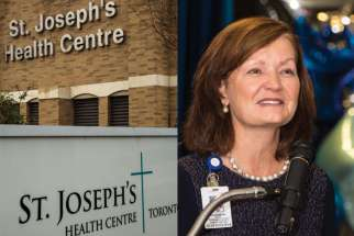 St. Joseph's Health Centre and the Sisters of St. Joseph president and CEO Elizabeth Buller