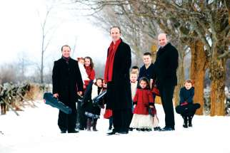 Donnell Leahy, centre, and his musical family, including wife Natalie MacMaster, will be in Toronto to help set the seasonal mood during three shows at Roy Thomson Hall.