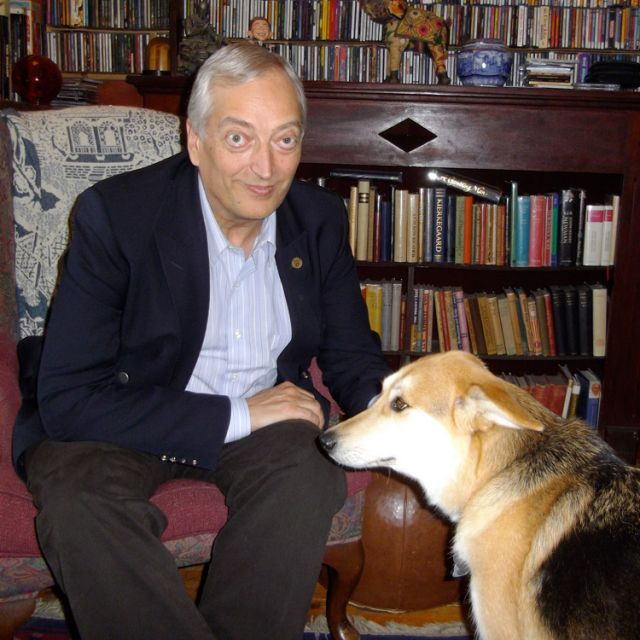 Christopher Monckton, the third Viscount Monckton of Brenchley, with Grace.