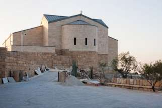This is an exterior view of the restored Memorial of Moses on the top of Mount Nebo in Jordan Oct. 10. The memorial has reopened its doors to the public amid festivities after a nearly decade of restoration.