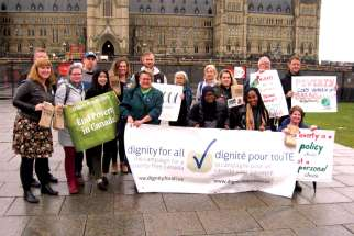Anti-poverty activists gathered at Parliament Hill to demand the eradication of poverty be a top priority.