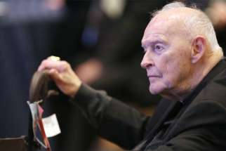In this 2017 file photo, former Cardinal Theodore E. McCarrick of Washington is pictured in Baltimore, Md.