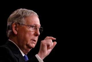 U.S. Senate Majority Leader Mitch McConnell, R-Ky., is seen on Capitol Hill April 7. Republicans' effort to pass a health care bill in the Senate collapsed July 17.