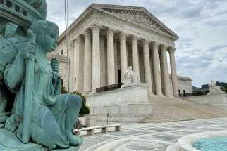 The U.S. Supreme Court in Washington is pictured May 3, 2020. In a 5-4 opinion, the court late Nov. 25 sided with the Diocese of Brooklyn, N.Y., and two synagogues in ruling that some of New York Gov. Andrew Cuomo's pandemic restrictions on houses of worship violated the First Amendment guarantee of religious freedom.