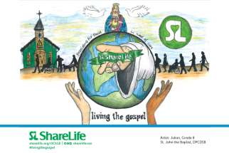"ShareLife held its 12th annual Elementary School Poster Challenge to promote the mission of ""Living the Gospel by providing for those in need."" The winner for English schools is Julian Cassar-Scalia, a Grade 8 student at  St. John the Baptist School in Bolton, Ont."