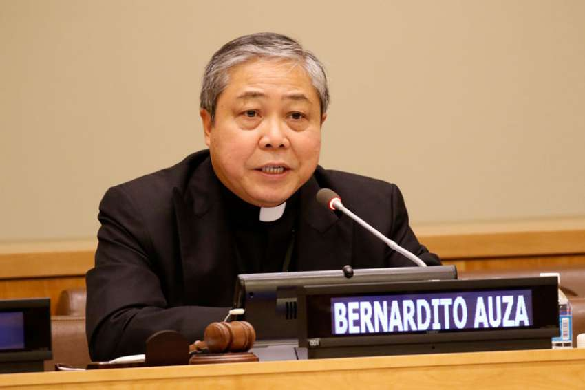 Vatican nuncio to the United Nations, Archbishop Bernardito Auza, says solutions to poverty has to be more than just about economics. They also have to include social, personal and environmental factors.