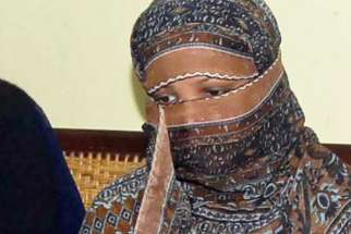 Asia Bibi, a Pakistani Catholic accused of blasphemy, is pictured in a 2010 file photo. The Supreme Court in Pakistan upheld its acquittal of Bibi Jan. 29.