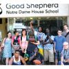 Some of the at-risk students from Good Shepherd Notre Dame House School in Hamilton, Ont.