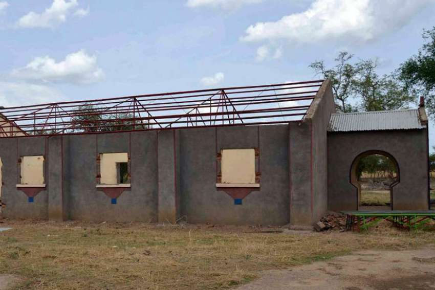 Sudanese Church of Christ after apparent razing and looting in Um Bartumbu, South Kordofan, Sudan, June 16, 2012.