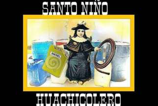 "Archdiocese of Puebla is warning against the veneration of a ""pseudo saint"" bearing the name ""Santo Nino Huachicolero"" created to legitimize criminal activities such as stealing gasoline."