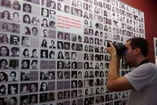 "A collections of photos from families whose children and grandchildren had disappeared during Argentina's ""dirty war"" by the Association of Mothers of the Plaza de Mayo. Pope Francis has authorized the opening of archives related to atrocities committed by the country's military dictatorship during the 1970s and 1980s."