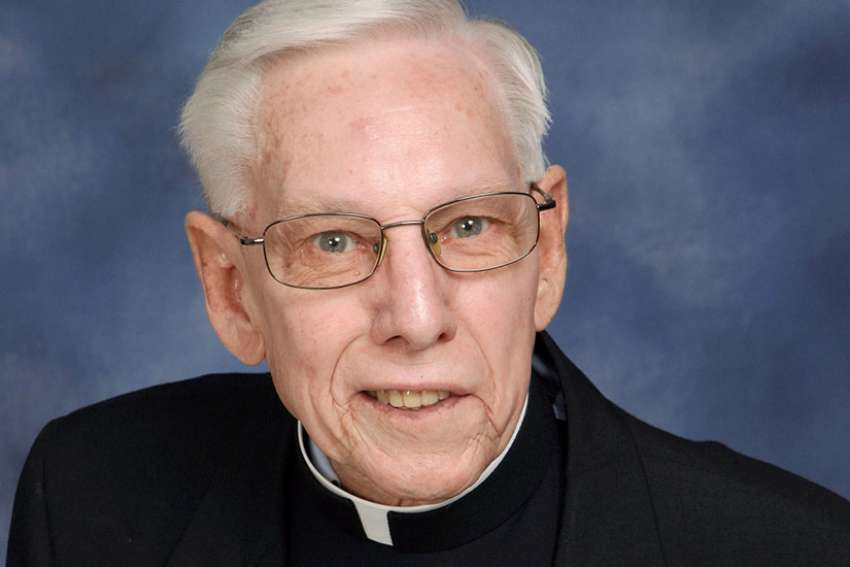 Msgr. William A. Dombrow, 77, a priest of the Archdiocese of Philadelphia responsible for a retirement home for priests, faces federal charges of embezzling more than $535,000 from that same home. Msgr. Dombrow is pictured in an undated photo.