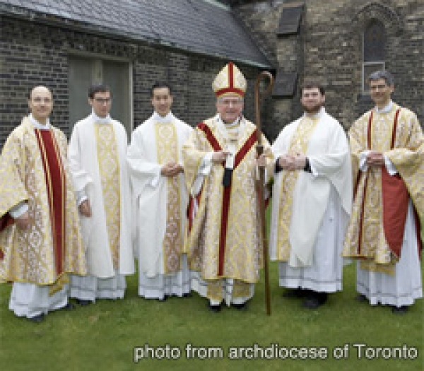 The archdiocese of Toronto ordained three new priests at a ceremony in St. Michael's Cathedral on Saturday May 14