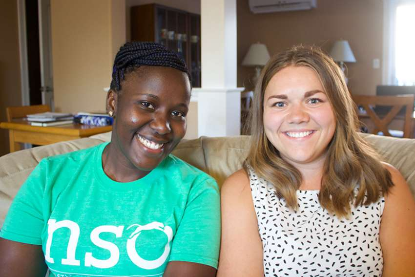 Shannon Moore, right, and Sara Muthee are learning how to live communally in a faith-filled environment. With the support of the Notre Dame sisters, they hope to discern the next stage of their life.