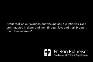 To be fully healed of our wounds, we have to take them to the Eucharist, writes Fr. Ron Rolheiser.