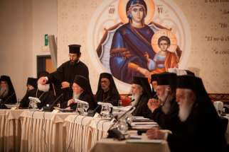 Patriarchs attend the opening session of Great and Holy Council of the Orthodox Church in Chania on the Greek island of Crete June 20. Although intended to be the first council of all the Orthodox churches in more than a millennium, the gathering opened with the absence of representatives from four Orthodox churches.