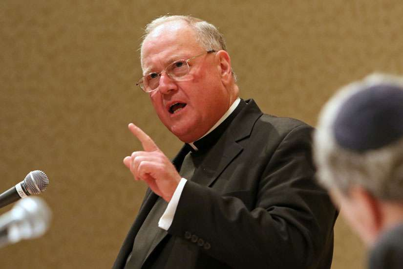 Cardinal Timothy M. Dolan of New York speaking in 2015. The Cardinal announced a new compensation program for sex abuse victims in his archdiocese Oct. 6.