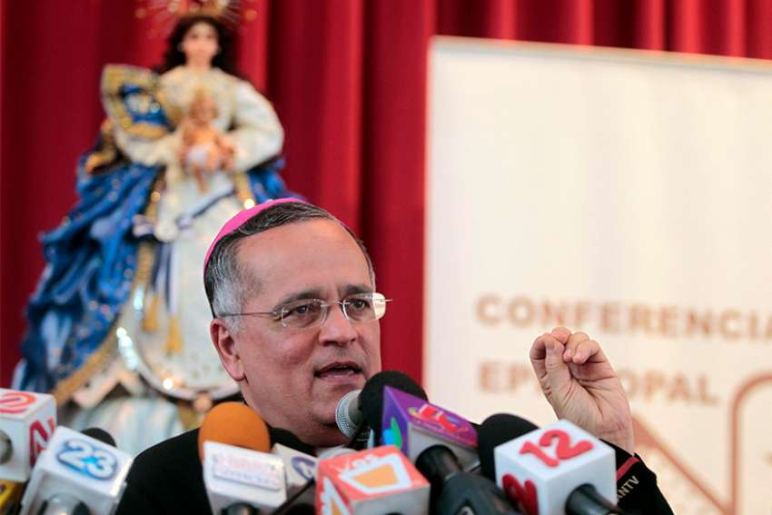 Auxiliary Bishop Silvio Baez Ortega of Managua, Nicaragua, is seen in this 2013 file photo. The Nicaraguan bishops' conference has denounced recent death threats against the outspoken bishop.