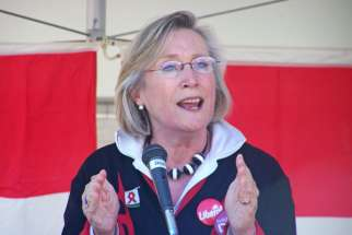 MP Carolyn Bennett in Calgary during the 2008 federal election.