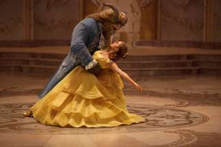 "Emma Watson stars in a scene from the movie ""Beauty and the Beast."""