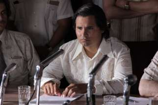 "Michael Pena stars in a scene from the movie ""Cesar Chavez."""