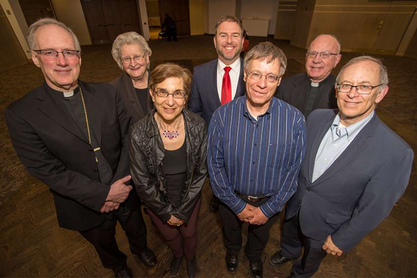 Members of the Canadian Conference of Catholic Bishops-Canadian Rabbinic Caucus Bilateral Dialogue put on a screening of the 2000 Czech film 'Divided We Fall' at Beth Tzedec Congregation in Toronto.
