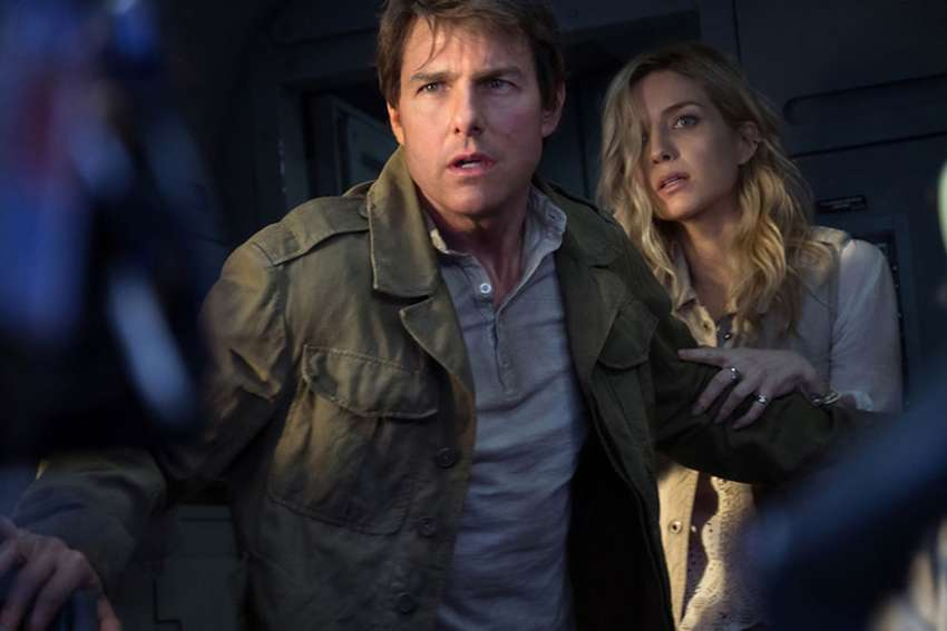 "Tom Cruise and Annabelle Wallis star in a scene from the movie ""The Mummy."""