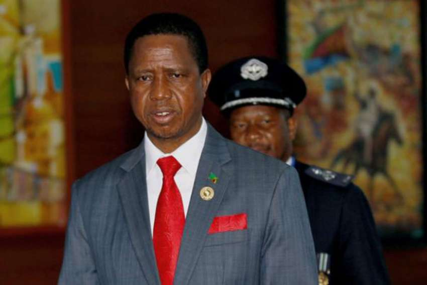 Zambian President Edgar Lungu is pictured in a Jan. 21 photo. Zambians are living in fear as police brutality increases and the southern African country approaches dictatorship, Zambia's Catholic bishops said.