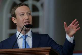 Facebook founder Mark Zuckerberg speaks during the Alumni Exercises after the 366th Commencement Exercises on May 25, 2017, at Harvard University in Cambridge, Mass.