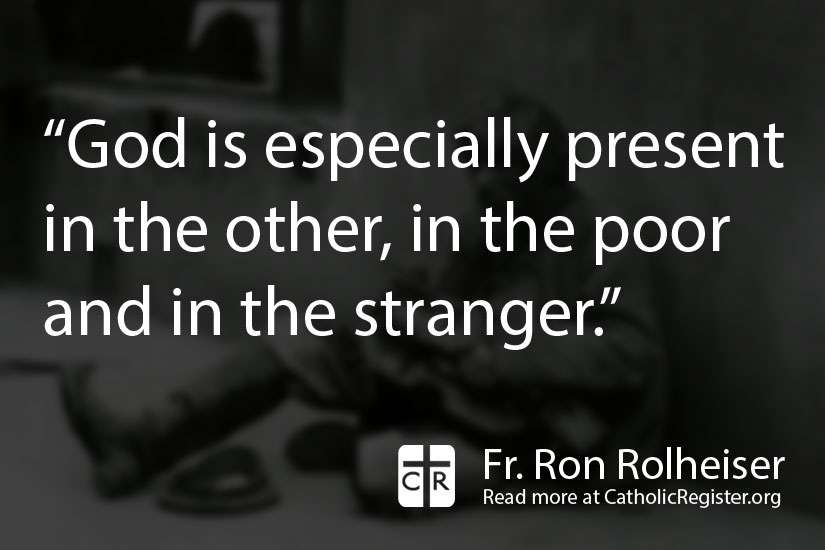 Fr. Ron Rolheiser writes about how God is everyone's God equally. He is not an exclusive to any one 'tribe.'