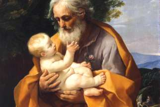 St. Joseph and the Infant Jesus, circa 1620, by Guido Reni.