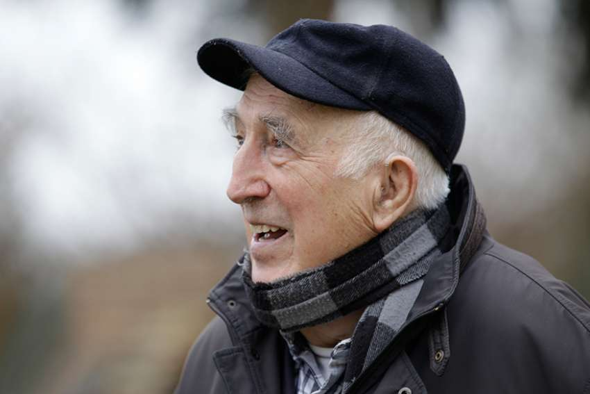 Jean Vanier, founder of the L'Arche communities, is pictured in a Feb. 17, 2015, photo. Vanier, a Canadian Catholic figure whose charity work helped improve conditions for the developmentally disabled in multiple countries over the past half century, died May 7 at age 90.