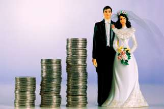 The cost of marriage is keeping many less affluent couples from getting married, studies show.
