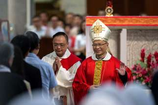 Pope Francis has sent condolences and a blessing to the Hong Kong Diocese following the Jan. 3 death of Bishop Yeung Ming-cheung, 73. Bishop Yeung is pictured in a 2017 photo.