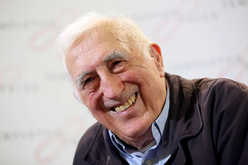Jean Vanier, founder of the L'Arche communities, is pictured in a March 11, 2015, photo. Vanier, a Canadian Catholic figure whose charity work helped improve conditions for the developmentally disabled in multiple countries over the past half century, died May 7 at age 90.
