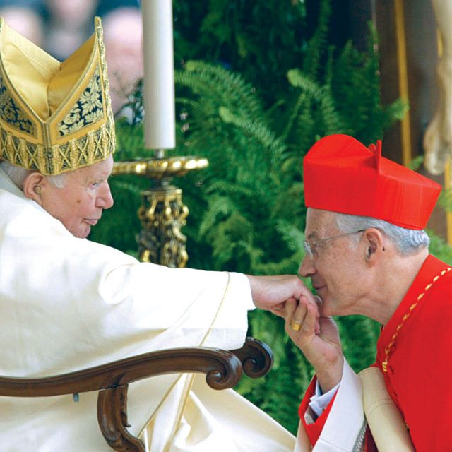 Cardinal Marc Ouellet kisses the ring of Pope John Paul II during the 2003 consistory elevating him to cardinal. Changes have been made for this year's consistory.