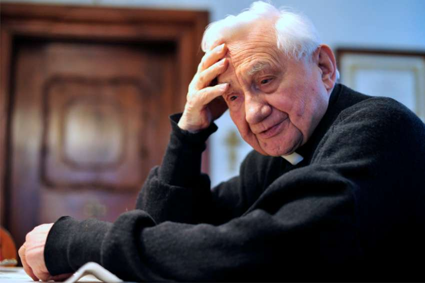 Msgr. Georg Ratzinger, the brother of retired Pope Benedict XVI, is pictured in Regensburg, Germany, April 2, 2012.
