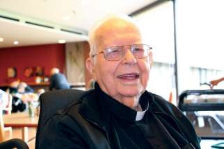 Msgr. Vincent Foy in his 99th year is celebrating 75 years as a priest.