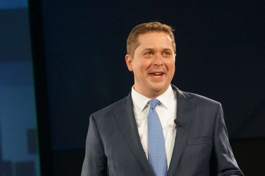 Conservative Andrew Scheer positions his party as the party of freedom.