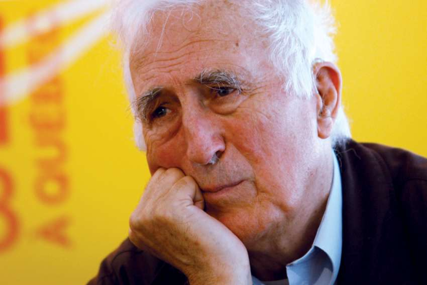 "Jean Vanier, founder of the L'Arche communities, is pictured in 2008. The Canadian theologian noted for his charity was found to have engaged in ""manipulative sexual relationships"" with six women."