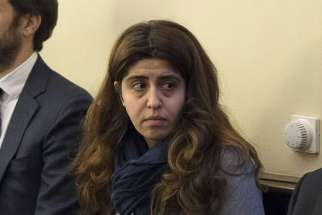 Italian laywoman Francesca Chaouqui seen in a courtroom Nov. 24, the first day of the 'VatiLeaks' case at the Vatican.