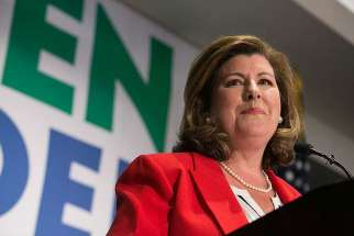Georgia's 6th Congressional district Republican candidate Karen Handel gives a victory speech, June 20, 2017 in Atlanta, Georgia.